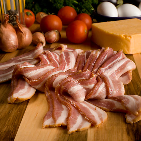 Applewood Smoked Bacon: Uncured, Thin Sliced