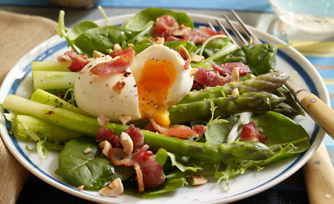 Bacon, Eggs & Asparagus Salad Recipe | D'Artagnan