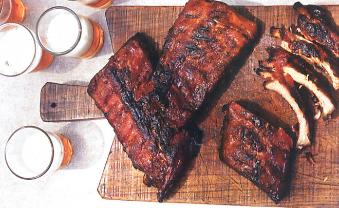 Susan Spungen Baby Back Ribs with Coffee Barbecue Sauce Recipe | D ...