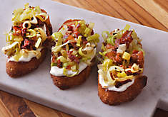 Bacon, Leek, and Truffle Toasts Recipe | D'Artagnan