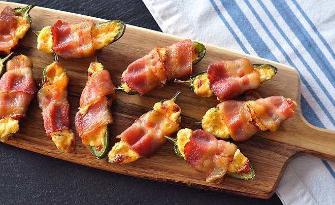 Bacon Wrapped Pimento Cheese Stuffed Jalapeno Poppers Recipe | D'Artagnan