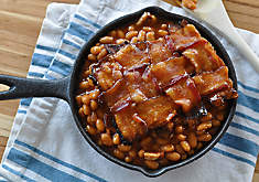 Baked Beans with Bacon Weave Recipe | D'Artagnan