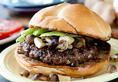 Ultimate Wild Mushroom Buffalo Burger