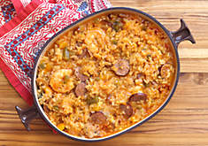 Spicy Cajun Andouille Sausage and Chicken Jambalaya Recipe | D'Artagnan