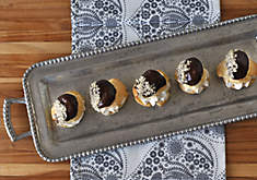 Choux Puffs with Chestnut Cream & Dark Chocolate Ganache Recipe | D'Artagnan