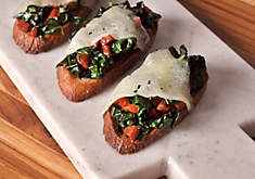 Chorizo & Greens Crostini