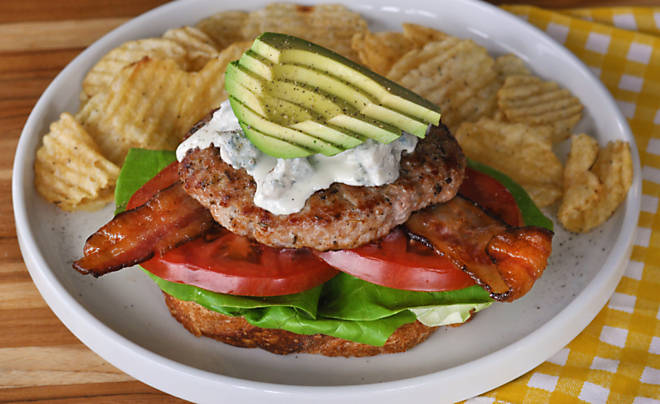 Cobb Salad Turkey Burger Recipe | D'Artagnan