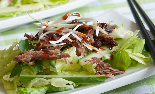 Crispy Duck Salad with Thai Chile & Lime Dressing
