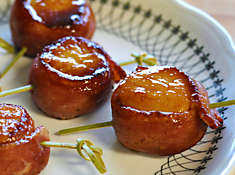 Duck Bacon Wrapped Scallops Recipe | D'Artagnan