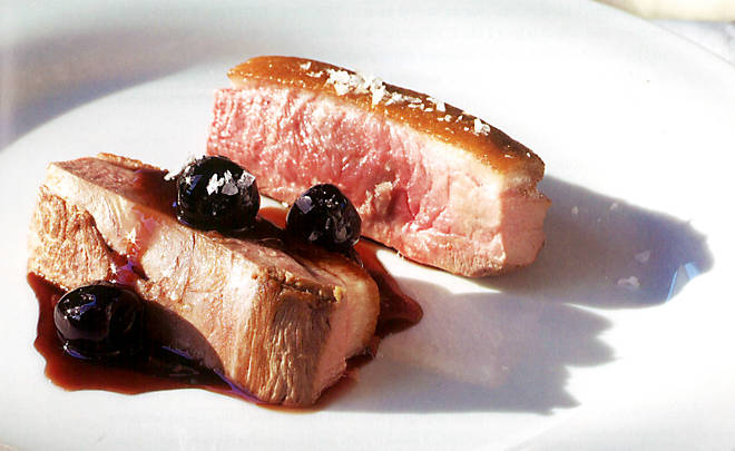 ... Lynch's Seared Duck Breasts with Spiced Cherries Recipe | D'Artagnan