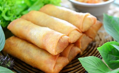 how to serve spring rolls