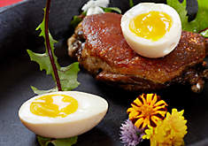 Duck Confit with Soft Boiled Duck Eggs