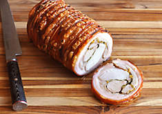 Grilled Porcelet Porchetta with Gremolata Recipe | D'Artagnan