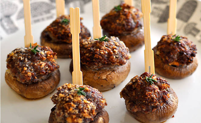 Game Sausage Stuffed Mushrooms Recipe | D'Artagnan