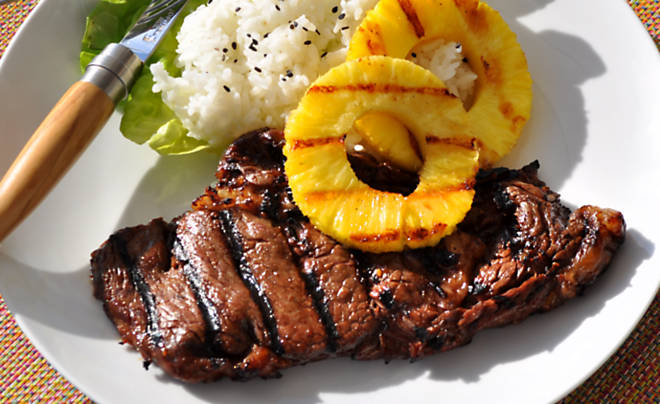 Soy & Pineapple Marinated Grilled Buffalo Ribeye Steaks Recipe | D ...