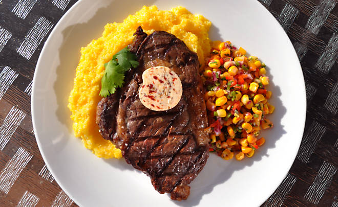 butter steak grilled chipotle rubbed steaks with lime butter recipe ...