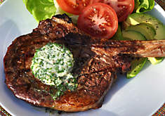 Grilled Ribeye Steak with Garlic-Herb Butter Recipe | D'Artagnan