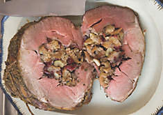 Michel Nischan Leg of Lamb Stuffed with Chestnuts & Dried Cranberries Recipe | D'Artagnan