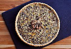Mushroom & Cheese Quiche with Truffle Butter Crust