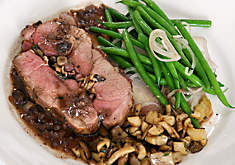 Mushroom Stuffed Wild Boar with Truffled Pan Sauce Recipe | D'Artagnan