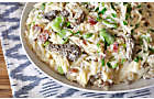 Creamy Orzo Pasta with Bacon, Fava Beans, & Morel Mushrooms Recipe | D'Artagnan