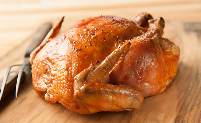 Perfect, crispy roasted chicken recipe
