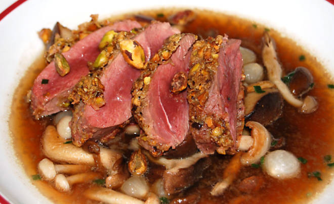 Pistachio Crusted Duck Breast Recipe | D'Artagnan