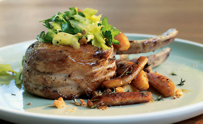 Baked Pork Chops With Apples And Walnuts Recipe