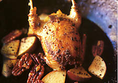 Frank Stitt's Roast Quail with Apples & Pecans Recipe | D'Artagnan