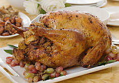 Roast Turkey with Bourbon & Pecan Stuffing