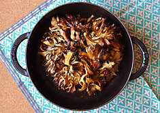 Roasted Hen of the Woods Mushrooms with Miso Butter Recipe | D'Artagnan
