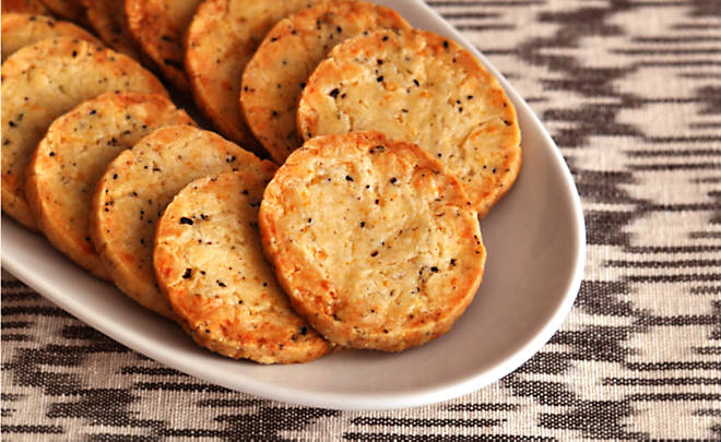 Savory Black Truffle Butter and Parmesan Shortbread Crackers Recipe | D'Artagnan