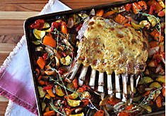 Sheet Pan Lamb Chops with Ratatouille Recipe | D'Artagnan