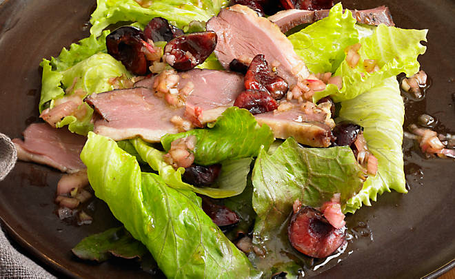 Alison Attenborough Smoked Duck & Cherry Salad Recipe | D'Artagnan