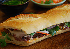 Smoked Duck Banh Mi Sandwiches
