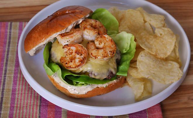 Wagyu Burgers with Spiced Shrimp & Remoulade Recipe   D'Artagnan