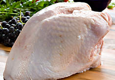USDA certified organic, whole, bone in turkey breast