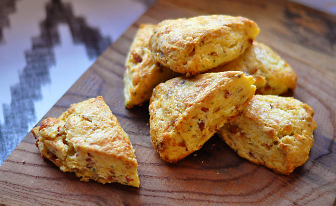 Bacon & Cheddar Cheese Scones Recipe | D'Artagnan