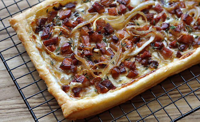 Simple Tarte Flambée Recipe | D'Artagnan