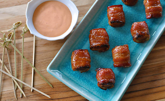 Bacon Wrapped Glazed Water Chestnuts Recipe | D'Artagnan
