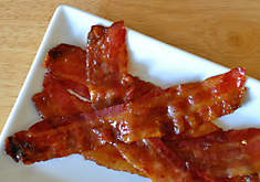 Candied bacon made with brown sugar