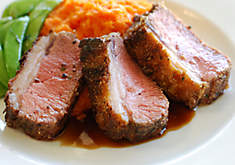 Cornmeal Crusted Lamb Loin Recipe | D'Artagnan