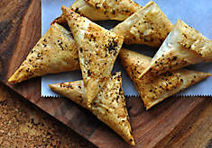 Phyllo Triangles with Creamy Mushrooms Appetizer Recipe | D'Artagnan