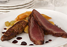 Alain Allegretti's Duck Breast with Sautéed Foie Gras & Port Reduction Recipe | D'Artagnan