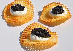 Duck Fat Potato Chips with Caviar Recipe
