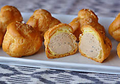 Foie gras and black truffle stuffed cream puffs recipe | D'Artagnan
