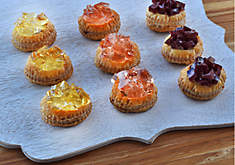 Foie Gras with Wine Jelly Tarts Recipe | D'Artagnan