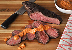 Grilled Wagyu Tri Tip Roast with Romesco Sauce Recipe | D'Artagnan