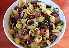 Jennifer Hess Pasta with Roasted Cauliflower, Olives & Saucisson Sec Recipe | D'Artagnan
