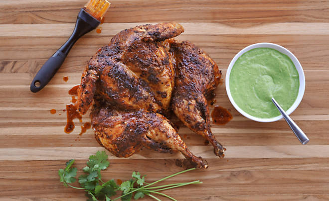 Peruvian Style Chicken with Aji Verde Green Sauce Recipe | D ...